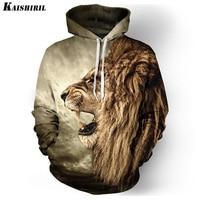 Really Cool 3D Lion Men Hoodies Hip Hop Sweatshirt Men Fashion Brand Plus Size 3XL Hoodie