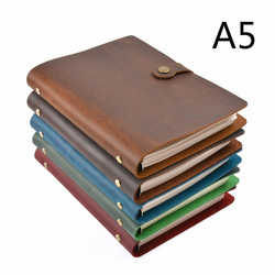 Moterm Classic Business Leather Notebook A5 Cowhide Cover Refillable Journal Diary Loose Leaf Sketchbook Planner Free Shipping