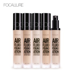 FOCALLURE 2018 New AIR FLUID FOUNDATION Moisturizing Natural Foundation Base Long Lasting Waterproof Women Makeup