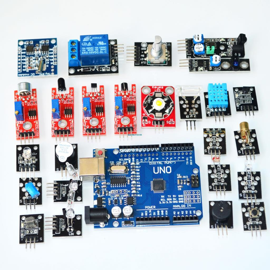! sensor suit sensor module kit 24 entry-level sensor include development board UNO R3 for aduino! sensor suit sensor module kit 24 entry-level sensor include development board UNO R3 for aduino