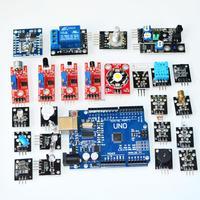 Free Shipping Sensor Suit Sensor Module Kit 24 Entry Level Sensor Include Development Board UNO R3