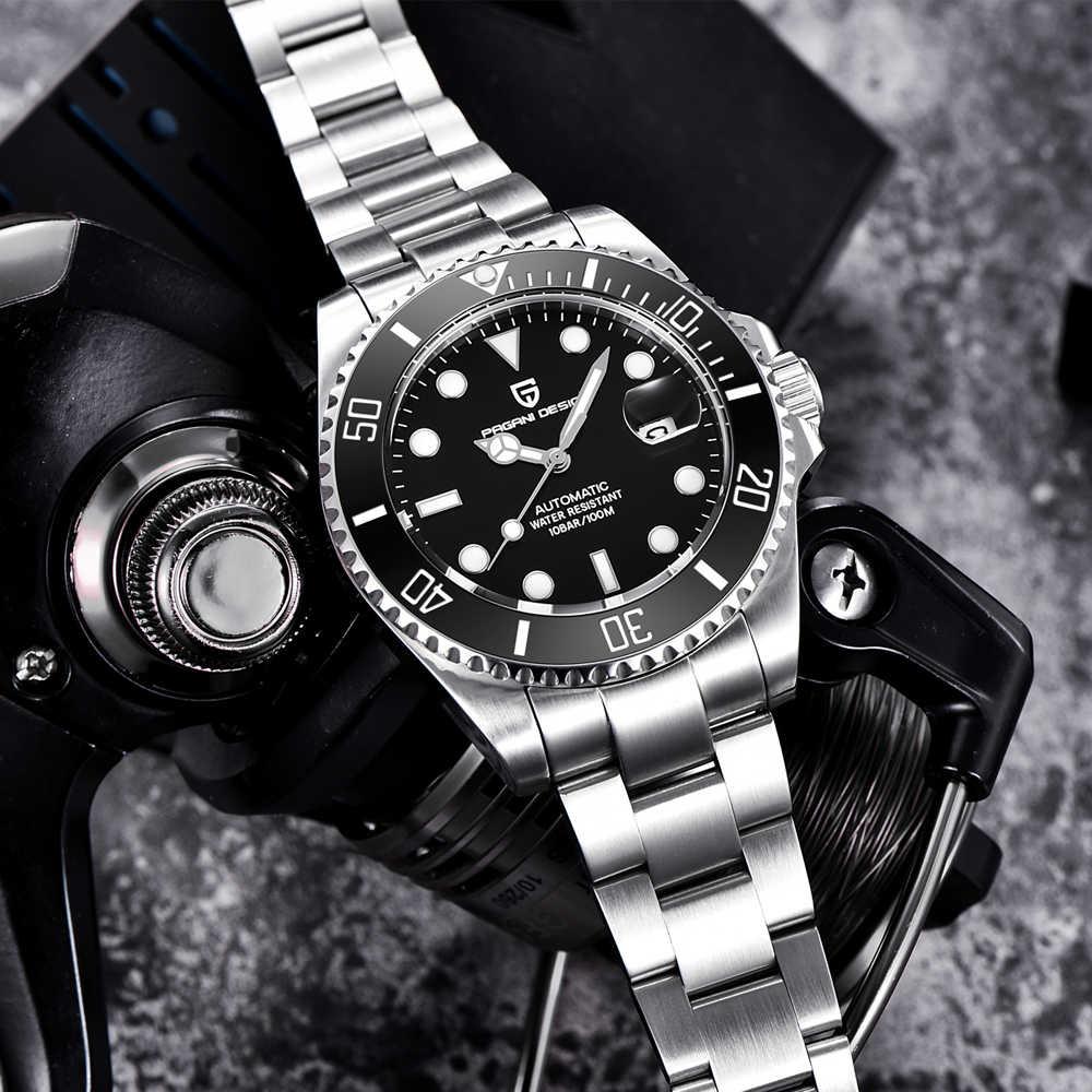 PAGANI mouvement hommes montres Top marque de luxe saphir 100 étanche Seiko movementmontres hommes automatique mécanique poignet W