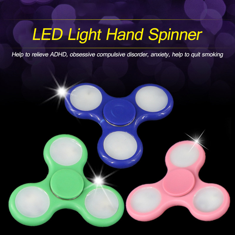 LED Triangle Finger Fidget Spinner EDC Gyro Toy For Autism ADHD Anxiety Stress Release Hand Spinning Top Toys Gifts fidget hand spinner brass metal edc finger spinner anti stress hand spinner for autism adhd toys gift spinning top