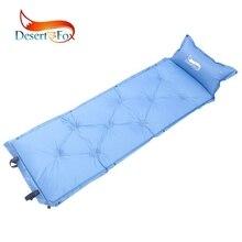 Пустыня и лиса Кемпинг надувной матрас с воздушной подушкой, Самонадувающийся туристические коврики Портативный Легкий колодки для походы в горы
