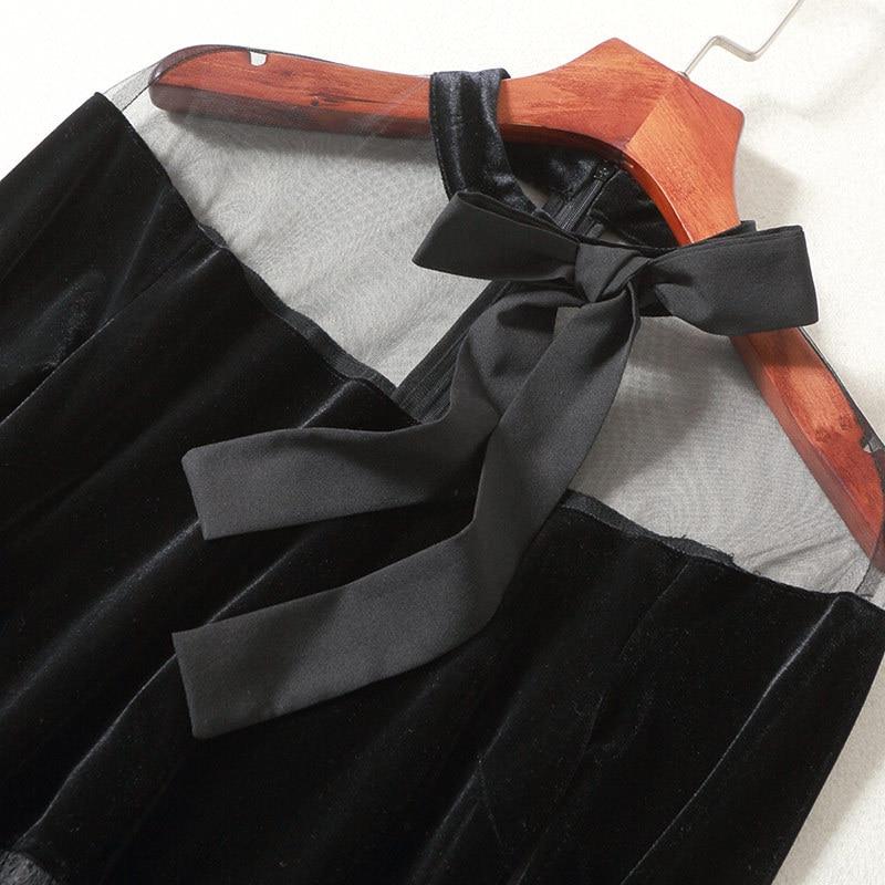 Élégant Robe Vintage Fil Haut New 2018 Vêtements 80142 Perspective Femmes Gamme Printemps A Net Dentelle ligne De dtshQxBCr
