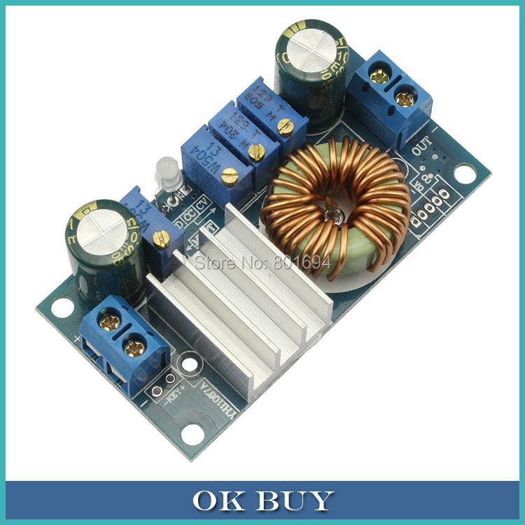 DC/DC Buck Converter 5A CC CV 6-36V To 2V-32V MPPT Step-down Voltage Constant Current Solar Charging Panels Controller