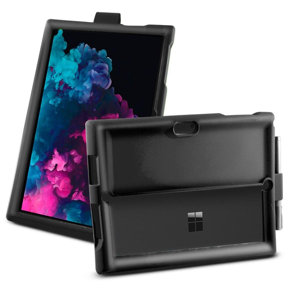 Microsoft Surface Pro 3 4 5 6 étui tablette Silicone coque plate Anti-chute anti-dérapant antichoc manchon + stylo rainure béquille couverture