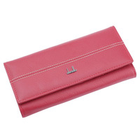 Fashion Real Cow Leather Wallet For Women Bifold Long Clutch Genuine Leather Card Holder Coin Bag