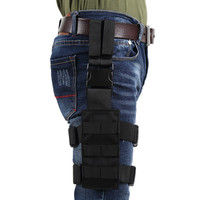 OneTigris Tactical Drop Leg Platform 1000D Nylon MOLLE Mini Leg Panel With Quick Release Buckle For