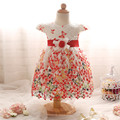 Cute Printed Princess Gown Baby Girl Summer Dress For Newborn Wedding Pageant Fancy Tutu Dress Toddler Girl Infant Party Dresses
