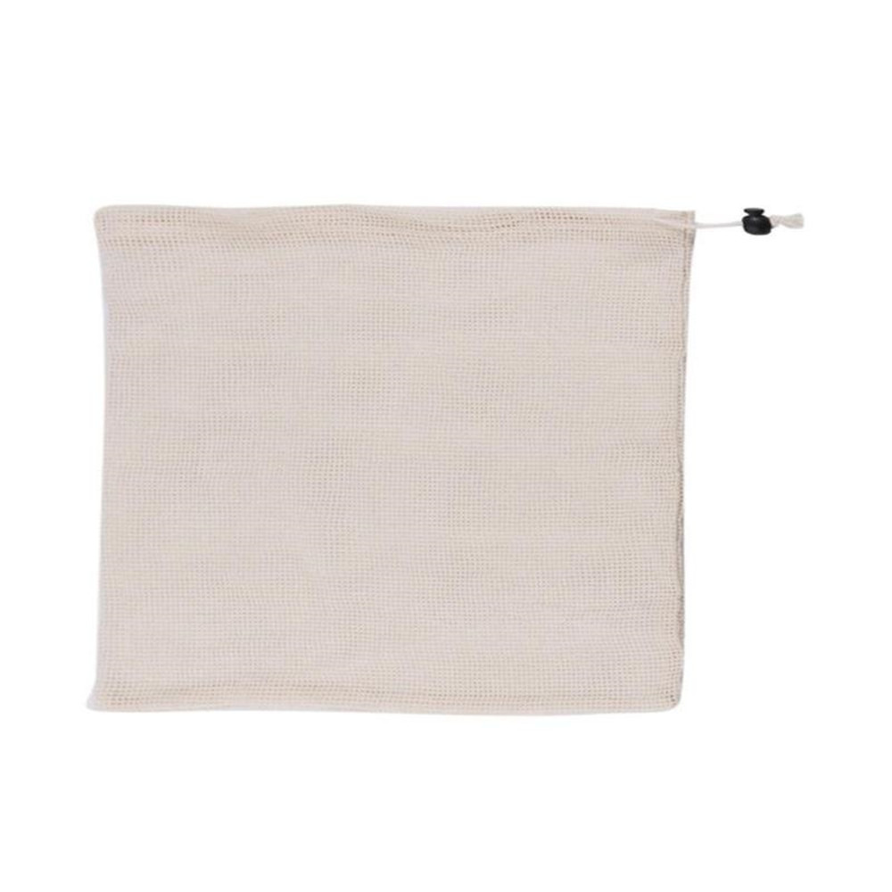 Image 5 - Reusable Organic Cotton Vegetable Mesh Bag for Men Women Home Kitchen Washable Fruit Grocery Drawstring Shopping Storage Bags-in Bags & Baskets from Home & Garden