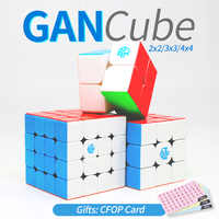 Cubos GAN magia de velocidad cubos de 2x2x2 3x3x3 4x4x4x4 GAN 356x356 aire SM 354M 460M 249 v2 M 356R Stikerelss Magnetc Cubo de 3x3 4x4 4x4 2x2