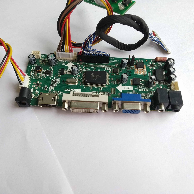 LCD DIY kit placa Controladora LVDS HDMI VGA DVI M. NT68676 Para LP154WX4-TLE1/E2/E4 exibição na Tela do painel 1280*800 15.4 de polegada