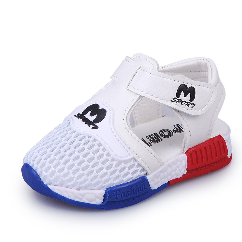 Купить с кэшбэком Summer New Children's Mesh Shoes Breathable Sandals for Boys Girls Casual Shoes Sports Todder Small Kids Sandals Size 21-25