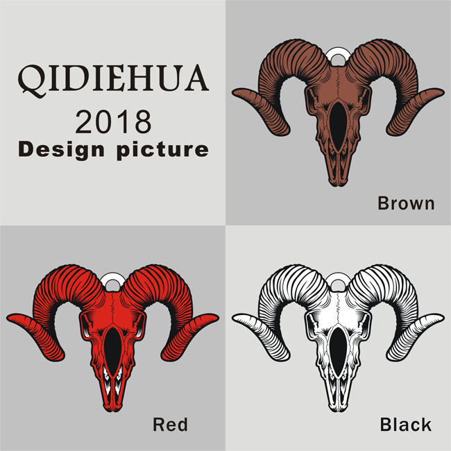 QIDIEHUA New Style Spanish Bullfighting Pendant Necklace Women&Men Fashion  Enamel Short Necklace Charm Cow Head Pendants Jewelry