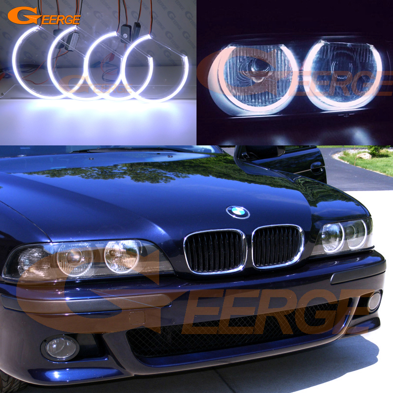 For BMW 5 SERIES E39 525i 528i 530i 540i 1997 1998 1999 2000 Excellent Ultra bright illumination COB led angel eyes kit 2pcs right left fog light lamp for b mw e39 5 series 528i 540i 535i 1997 2000 e36 z3 2001 63178360575 63178360576