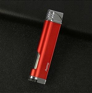 Image 4 - 새로운 스트립 토치 터보 라이터 시가 파이프 제트 라이터 방풍 부탄 담배 시가 라이터 1300 C No GAS