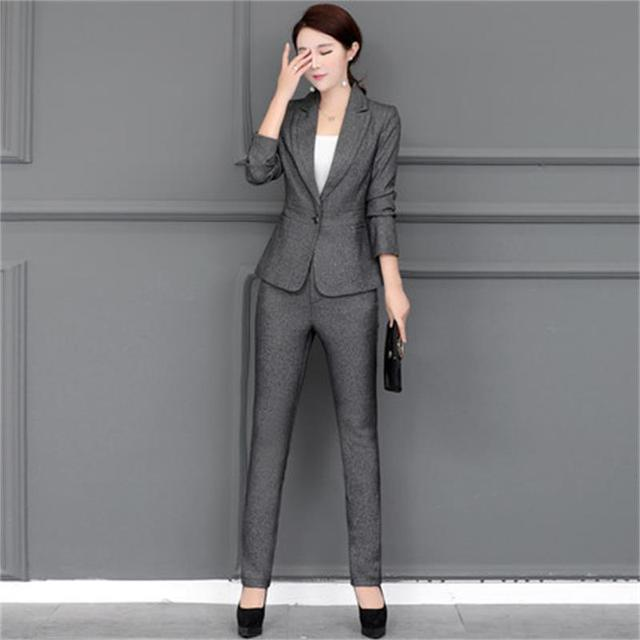 Fall Winter Formal Fashion Interview Blazer Women Business Suits