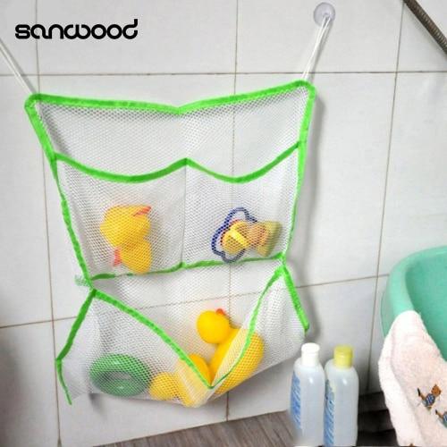 2016 Home Badezimmer Saug-net Bag Bad Baby-kind-speicher-organisator Tidy Spielzeug Tasche 9ijd