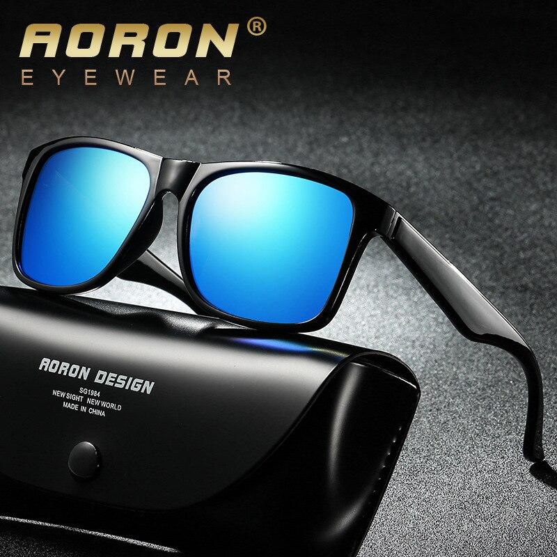 2018 новая мода квадратный открытый поляризованных солнцезащитных очков Для мужчин Винтаж солнцезащитные очки 100% UV400 вождения Рыбалка Ночно... ...