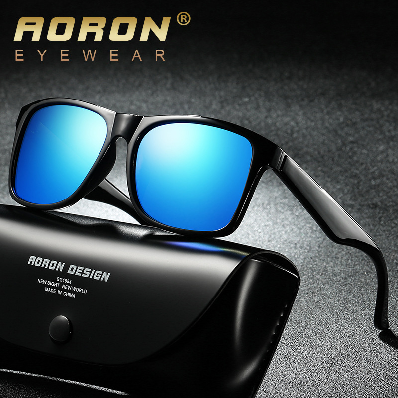 2018 New Fashion Square Outdoor Polarized Sunglasses Men Vintage Sun Glasses 100% UV400 Driving Fishing Night Vision Goggles