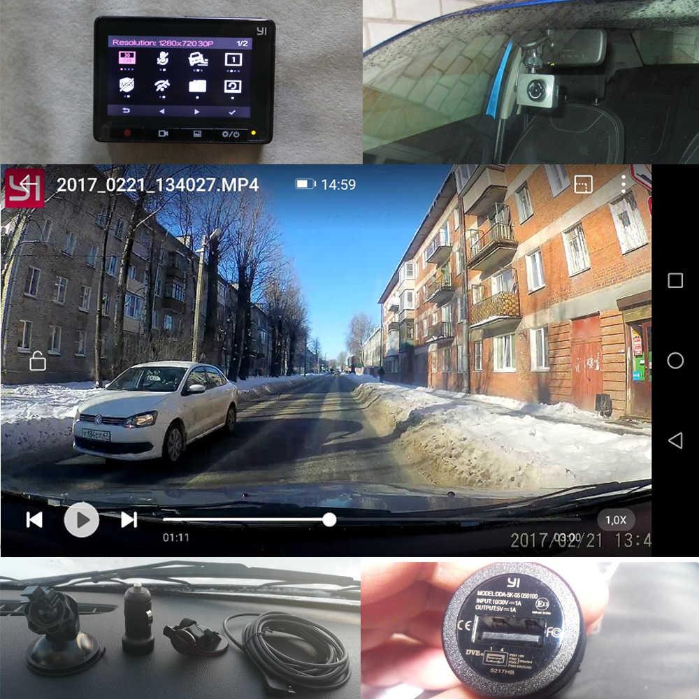 """[Международная версия] YI Smart Dash камера вождения рекордер WiFi Автомобильный видеорегистратор 1080P 2,7 """"165 градусов 60fps ADAS безопасное напоминание Dashcam"""