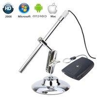 Microscopio Digital HD 8MM 1200P 200X Mini cámara endoscópica Video en tiempo Real impermeable 8LED WIFI Cámara Examen de piel Android|Cámaras de vigilancia| |  -