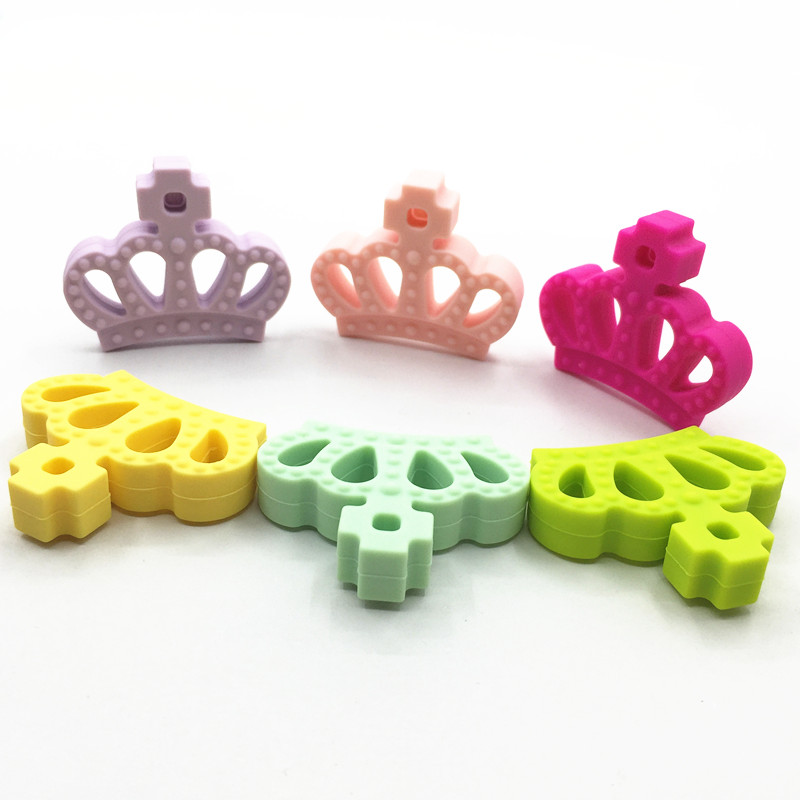 Prix pour Nouveau 10 pcs/lot reine Couronne silicone dentition pendentif-À Croquer, BPA-livraison, silicone de qualité alimentaire dentition pendentif