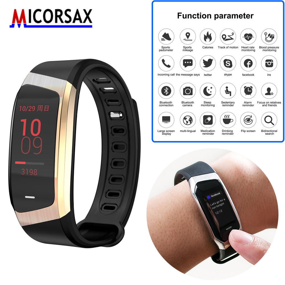 Sports Car Inspiration Metal Shell New Smart Health Band Heart Rate Bracelet Metal Shell Waterproof Watch Wristband GPS Tracker