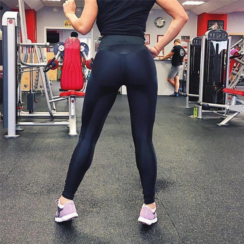 High Waist Shiny Woman Leggings