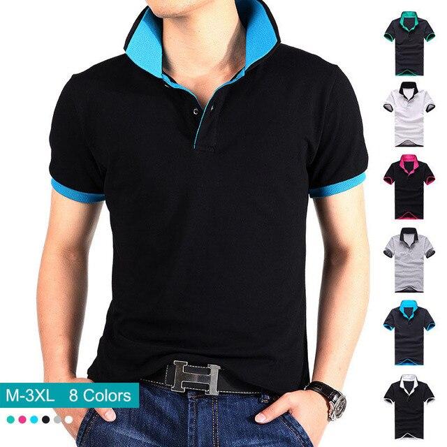 20c6d87ab840c Polo homens de alta qualidade nova marca Cotton esporte Mens Camiseta  Masculina Polo Man   s