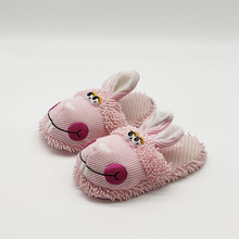 pink rabbit fur slippers timber land shoes men women winter Custom Home House Slippers Children indoor warm