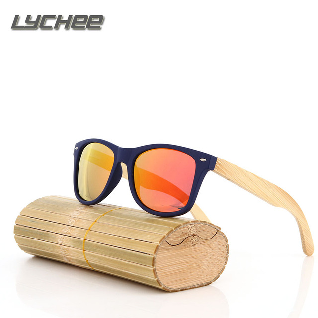 LYCHEE 2016 Hot Sell fashion bamboo sunglasses men women vintage wood sunglasses summer retro Drive cool wooden glasses