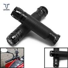 """จัดส่งฟรี 7/8 """"22 MM รถจักรยานยนต์ CNC Handle Grips รถจักรยานยนต์ Handlebar สิ้นสุดสำหรับ Honda XADV 750 xadv750 ct1100 cb190r st 1300"""