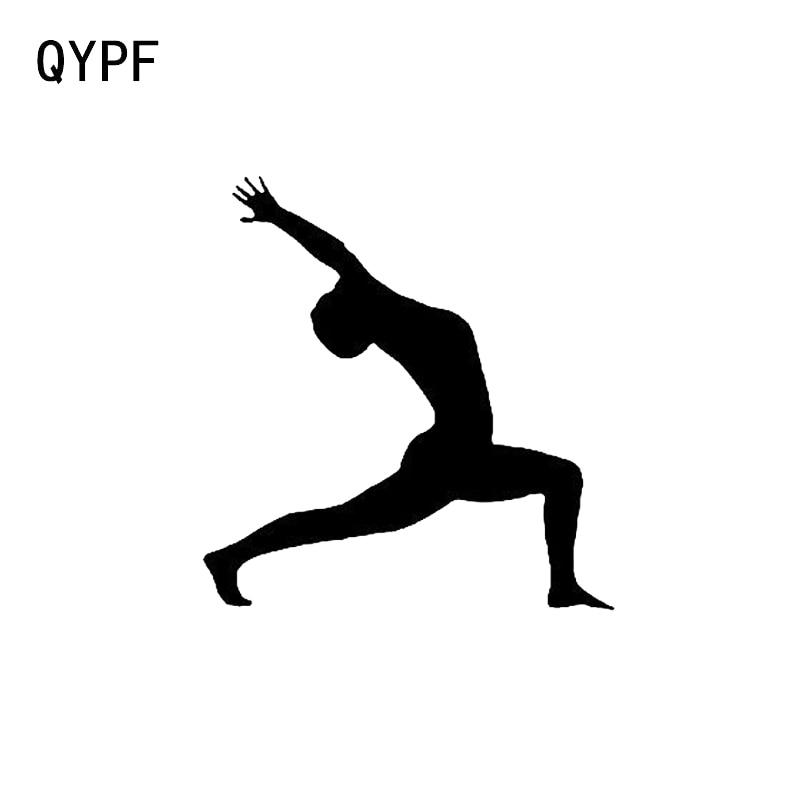 QYPF 13,5*6,3 интересный спортивный декор для фитнеса, наклейка для моделирования автомобиля, виниловая Экстремальная искусственная силуэта