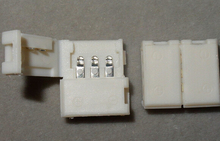 3pin 10 мм Широкий разъем для 10 мм широкий печатных плат светодиодный цифровой полосы (WS2811, WS2812B. и т. д.) без необходимости пайки; plug and play
