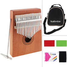 17 Key Kalimba Single Board Mahogany Thumb Piano Mbira Mini Keyboard Instrument with Complete Accessories Musical Instruments kalimba piezo pickup mbira accessories thumb piano pick up musical instruments