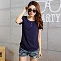 Hot Sale T Shirt Women 2016 Summer Casual Tops Short Sleeve New Fashion T-shirts Solid Slim O-neck Plus Size Tee Shirt Femme 3XL