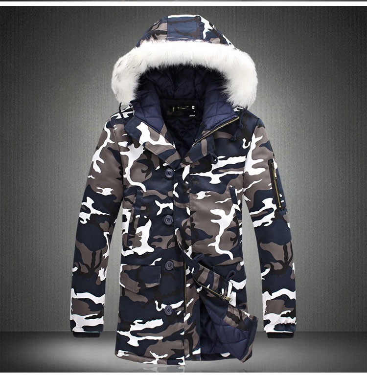 Aolamegs Camouflage Parkas Winter Jacket Men Military Style Medium-long Hooded Winter Coat Cotton-Padded Warm Jackets Plus Size (16)