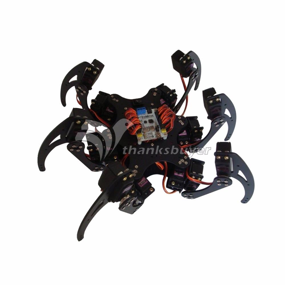 Aluminium Robotic Hexapod Spider Six 3DOF Legs Robot Frame Kit with Bearings 20dof robot spider hexapod six legs robotic aluminium frame kit with 20pcs servo horn