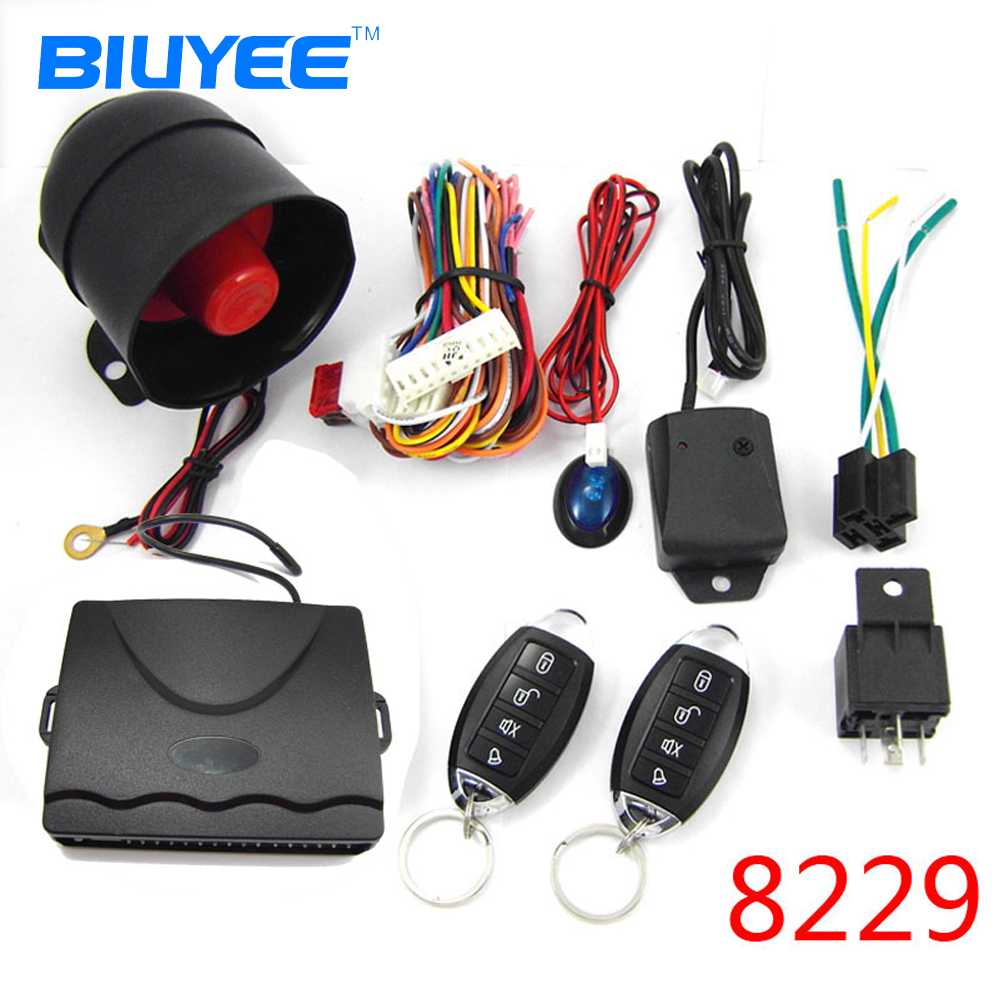 Biuyee M8028229 Car Alarm System Universal Antitheft Device. Biuyee M8028229 Car Alarm System Universal Antitheft Device Oneway Auto Central Lock Remote Code Learning Burglar. Wiring. Car Alarm Wiring One Wire At Scoala.co
