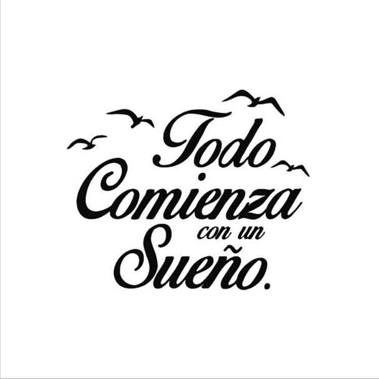 Chambre En Espagnol: Mode Espagnol Citation Vinyle Stickers Muraux Chambre