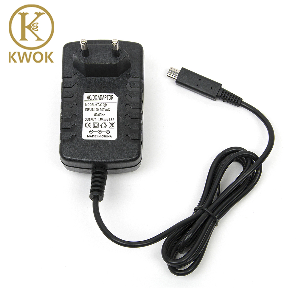 Microsoft Charger EU Plug For Acer 12V 1.5A 18W Tablet Battery Charger For Acer Iconia Tab A510 A700 A701 Power Supply Adapter
