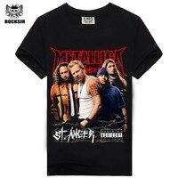 Free Shipping Short Sleeve Black Fashion Short Sleeve Black Heavy Metal Metallica Printed T Shirt