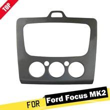 כפול דין DVD לרכב מסגרת עבור פורד פוקוס MK2 2005 ~ 2008 Fascias אוטומטי DVD סטריאו Trim ערכת פנל לוח מחוונים 2 דין רכב רדיו מסגרת 2di
