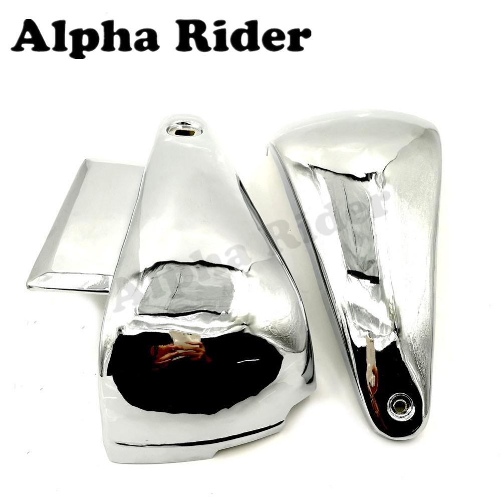 Motorcycle Battery Side Covers Frame Guard Fairing Protect Chrome for Kawasaki Vulcan 400/800 VN400 VN800/A/B/E Classic Drifter-in Covers & Ornamental Mouldings from Automobiles & Motorcycles    2