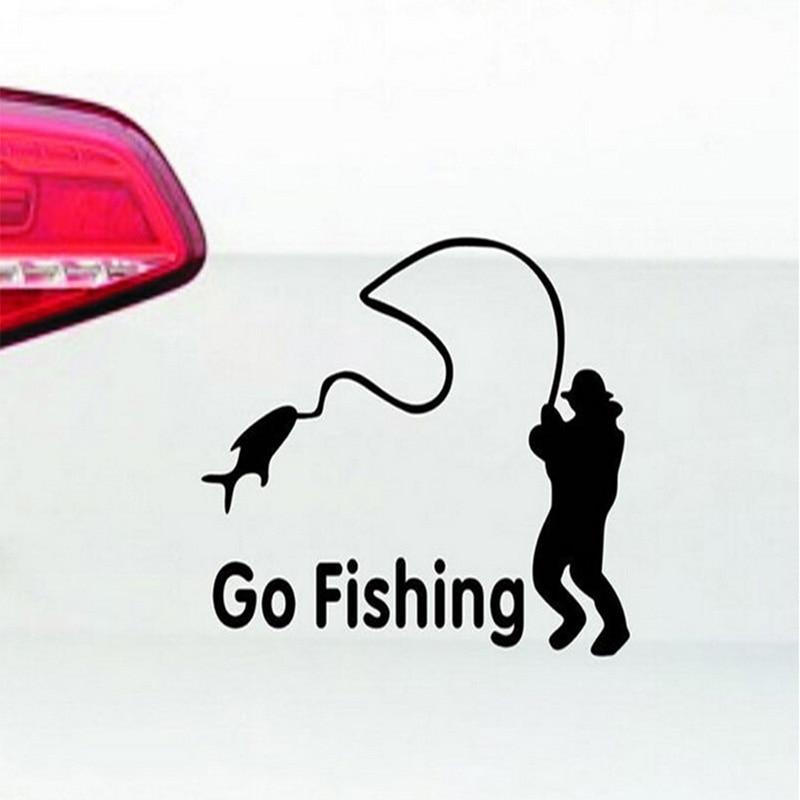 1 stk SEEYULE Go Fishing Car Stickers Styling Vinyl Decal Truck Boat - Udvendigt biltilbehør - Foto 3