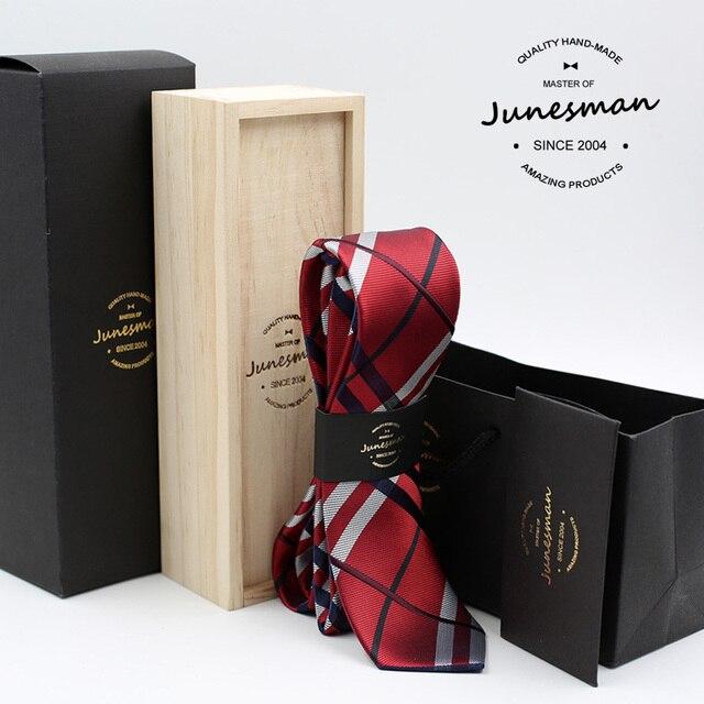 2016 neck tie man slim wedding necktie male skinny mariage kravat gent red designer neckwear husband boy friend gift wool box