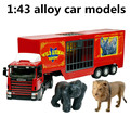 Engineering vehicles, 1:43 alloy Circus animal transporters,Toy Vehicles,best gift ,free shipping