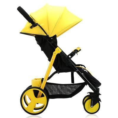 SLD cochecito de bebé diseño científico pliegues fácilmente y convenientemente 0-3 años, 7 kg capacidad de 25 kg marco de acero de ruedas de EVA - 3